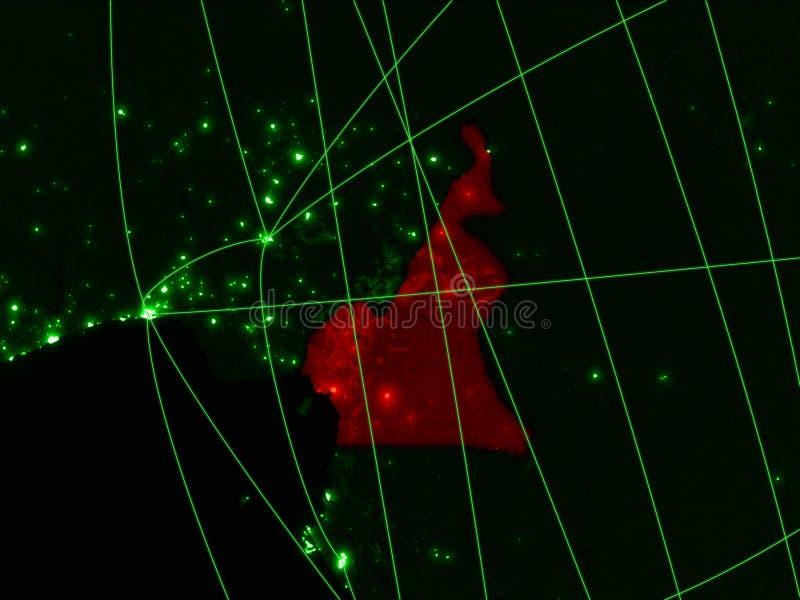 Kamerun på grön översikt arkivfoto