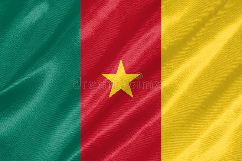 Kamerunflagga royaltyfri foto
