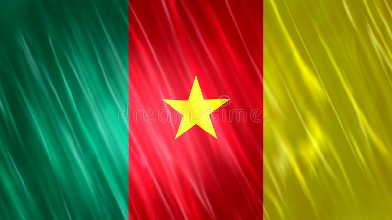 Kamerunflagga royaltyfria bilder