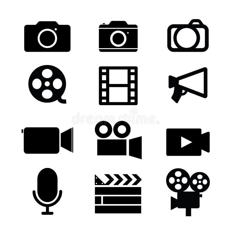 Kamery żaluzi obiektywów fotografii Wideo fotografii Cyfrowego Pracowniany Medialny wektor ilustracja wektor