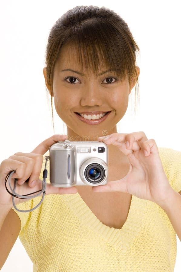 kamery 4 dziewczyna zdjęcia royalty free
