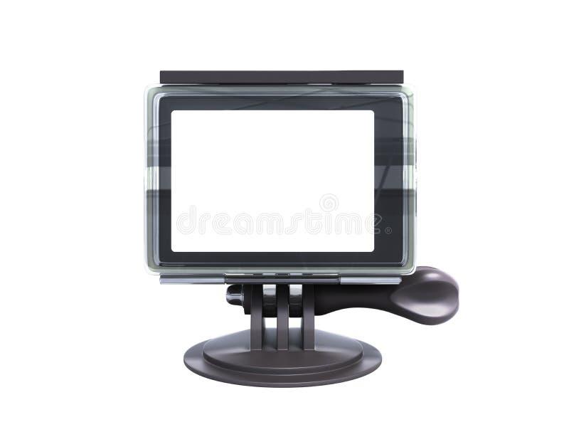 Kamery akci krzywka 3d odpłaca się na białym tle żadny cień ilustracji