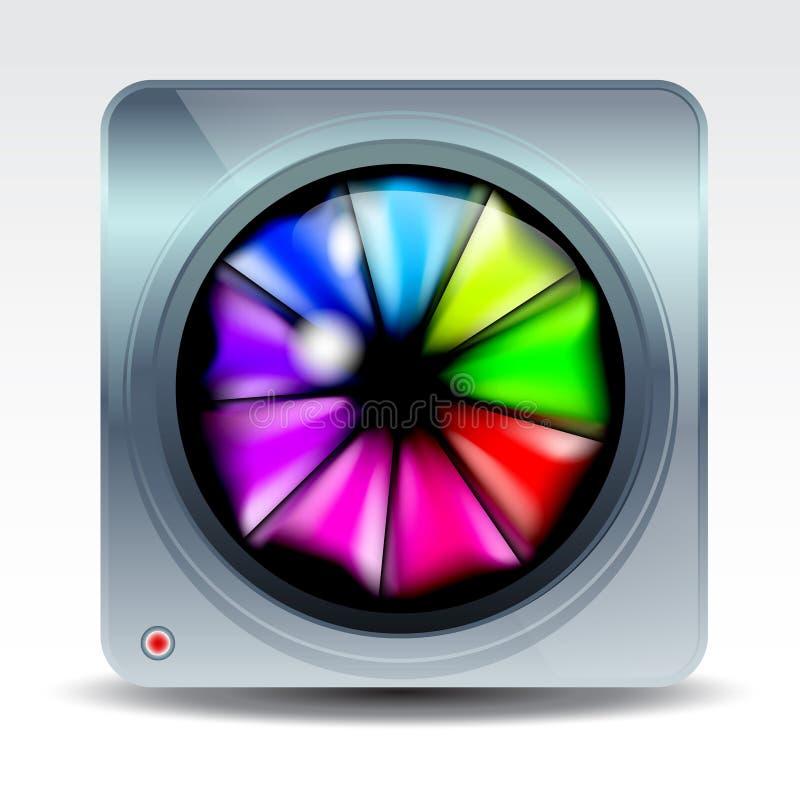 Kamery App ikona ilustracja wektor