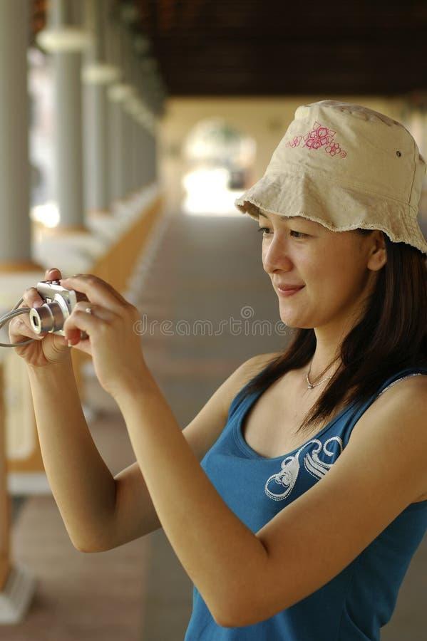 kamery azjatykcia damo obraz royalty free