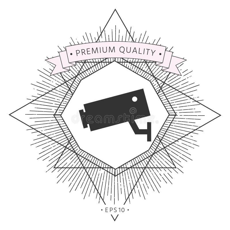 Kamery bezpieczeństwa ikona ilustracja wektor