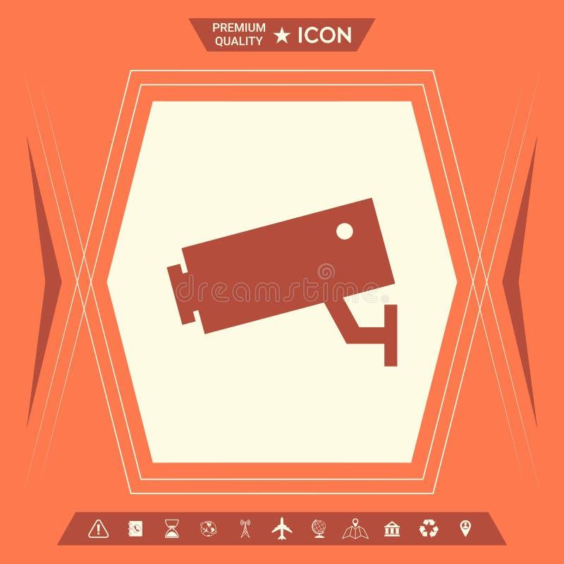 Kamery bezpieczeństwa ikona royalty ilustracja