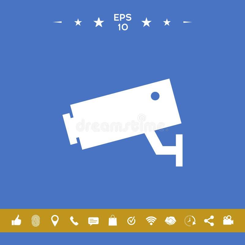 Kamery bezpieczeństwa ikona ilustracji