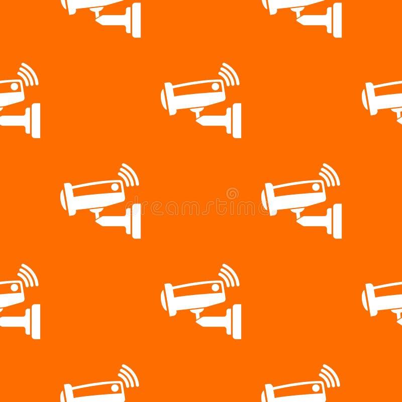 Kamery bezpieczeństwej deseniowa wektorowa pomarańcze ilustracji