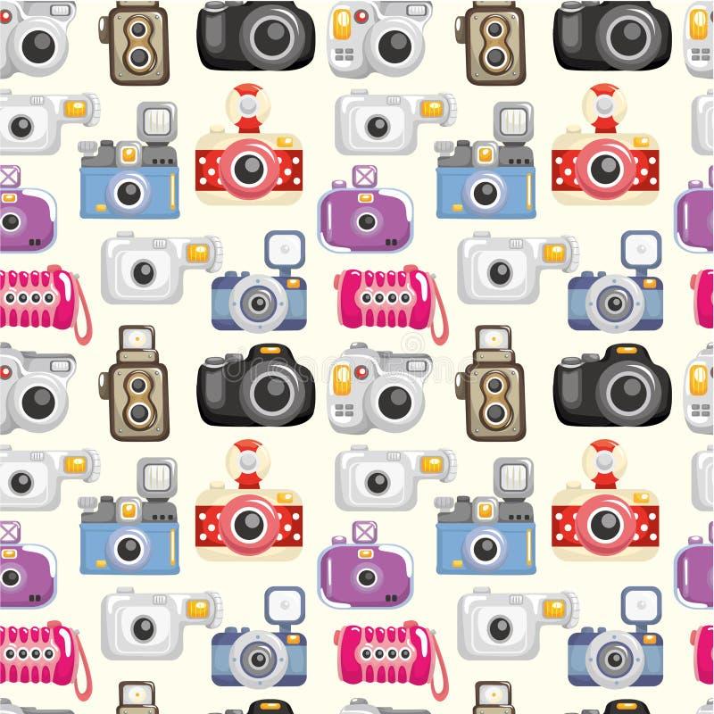 kamery bezszwowy deseniowy ilustracja wektor