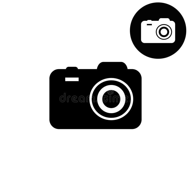 Kamery biała i czarna wektorowa ikona ilustracja wektor