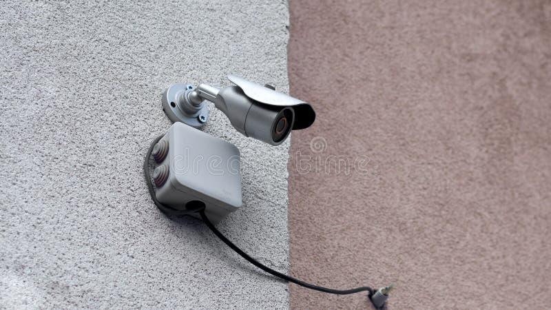 kamery cctv zamknięta cyfrowa ochrona up zdjęcie stock