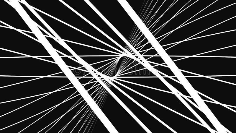 Kamery chodzenie w 3d siatki nieskończonej przestrzeni pętlę Wysoki definicja ruchu tło uwypukla nieskończonego tunel ilustracja wektor