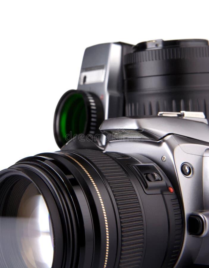 kamery cyfrowego filmu odosobniony fotografii biel obrazy stock