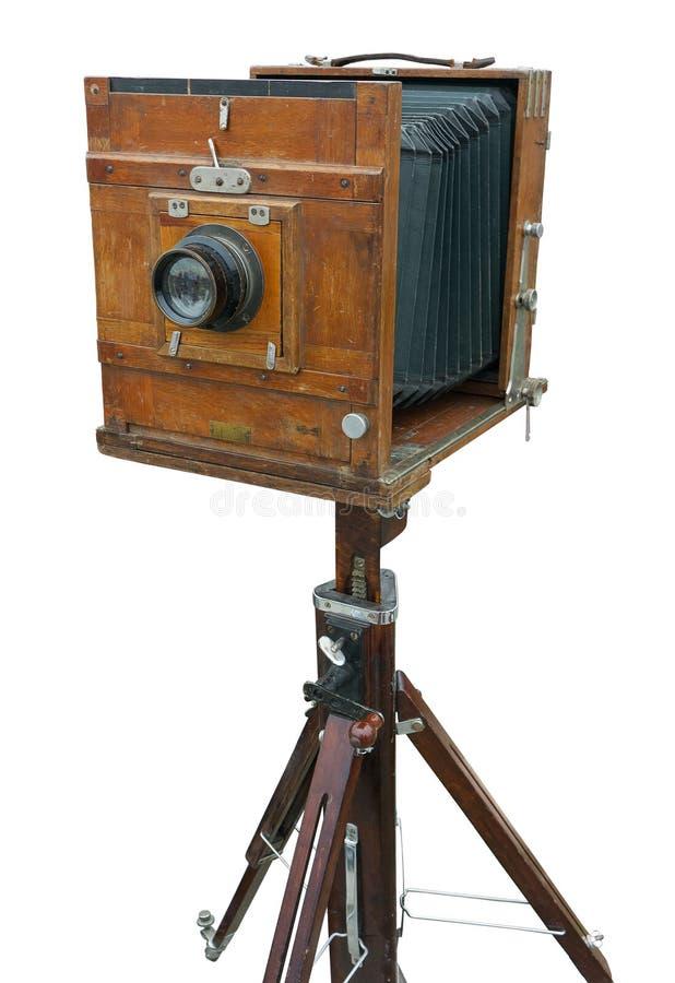 kamery drewniany fotografia stock