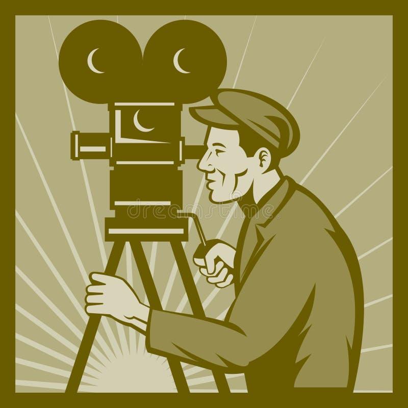 kamery dyrektor ekranowy film tv ilustracji