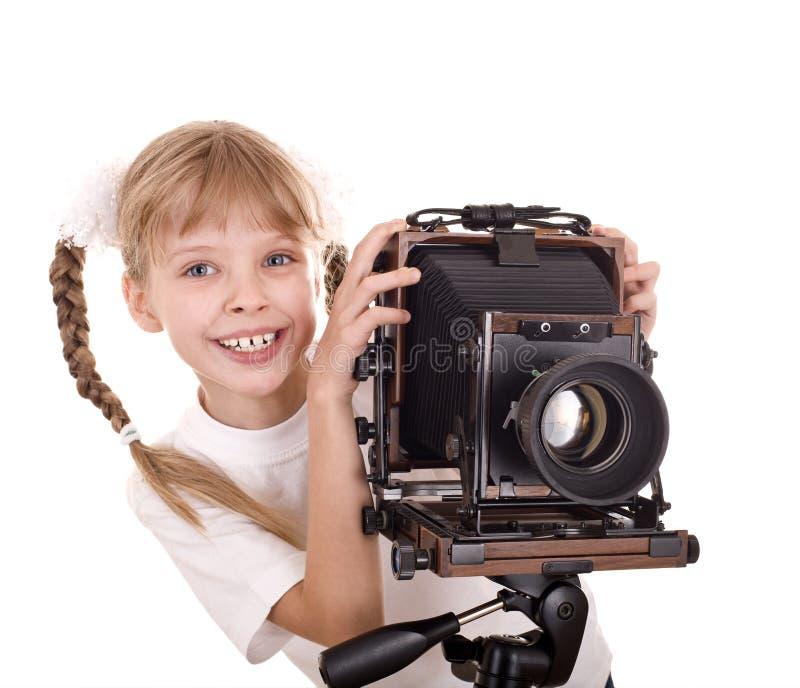 kamery dziecka cyfrowa formata ampuła stara fotografia royalty free