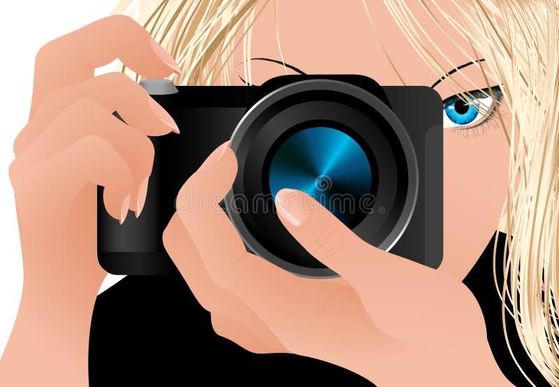 kamery dziewczyny mienie royalty ilustracja