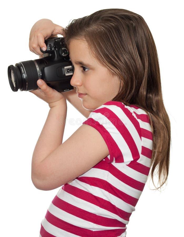 kamery dziewczyny obrazka fachowy zabranie obraz stock