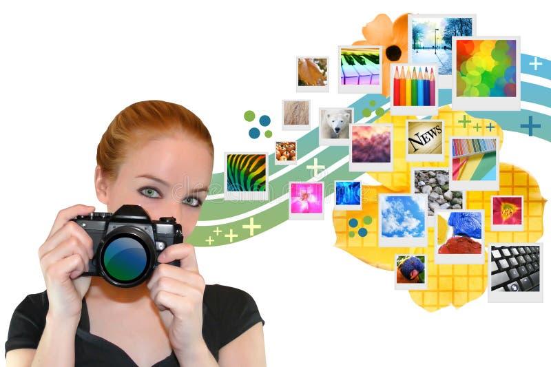 kamery dziewczyny strzelać fotografii target766_0_ fotografia royalty free