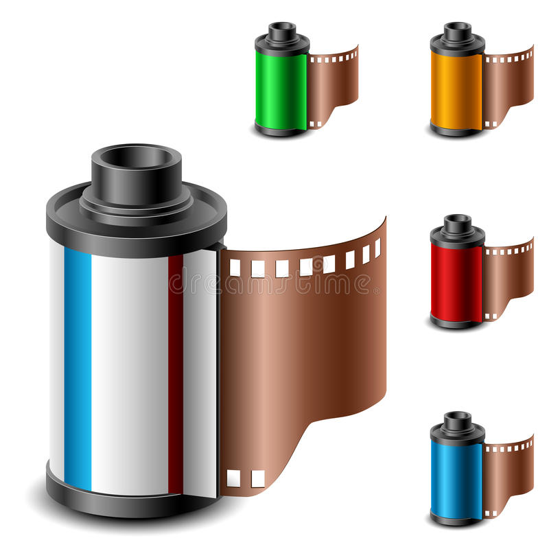 Kamery ekranowej rolki set ilustracji