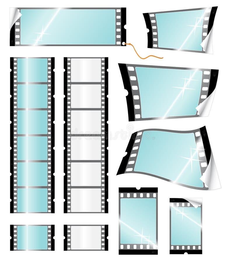 kamery filmstrip handlu detalicznego etykiety ilustracji