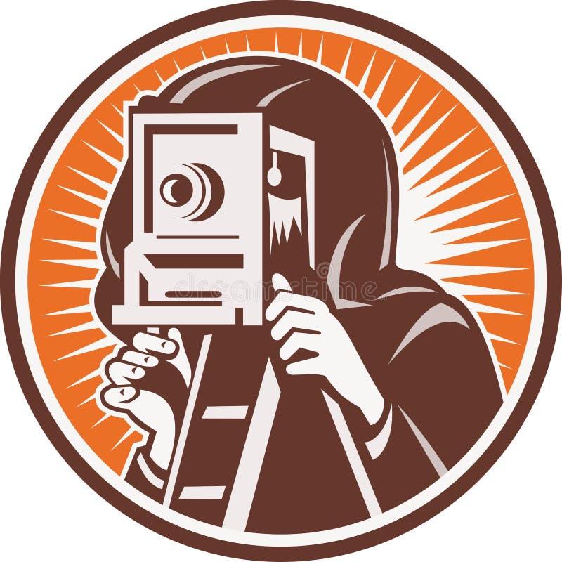kamery fotografa rocznik ilustracja wektor