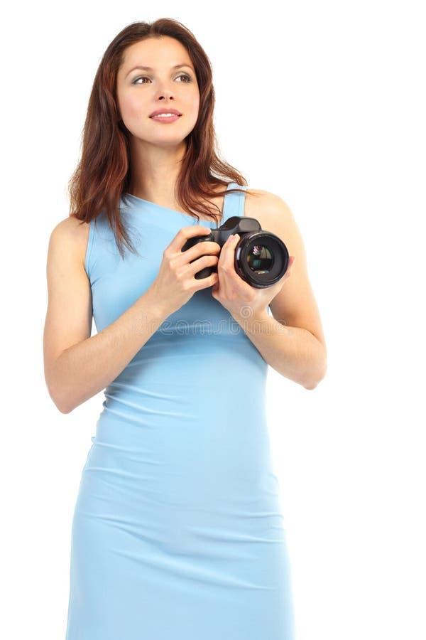 kamery fotografii kobieta zdjęcie stock
