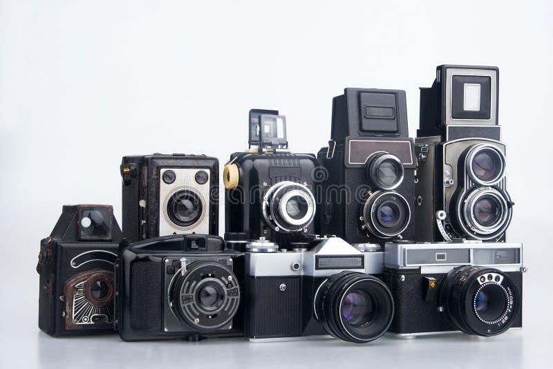 kamery grupują starego fotografia royalty free