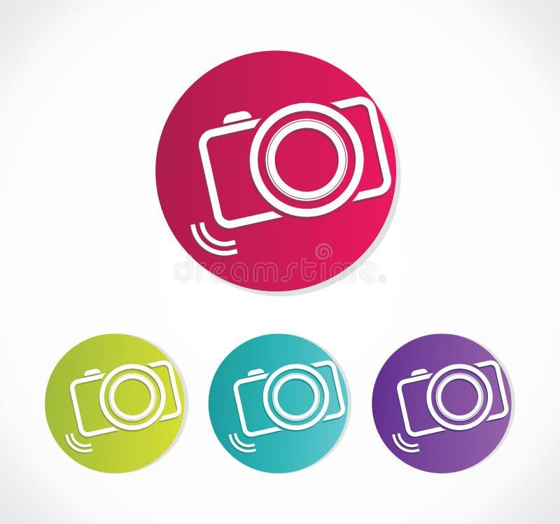 Kamery ikona ilustracji