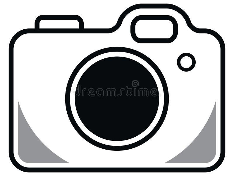 Kamery ikona na białym tle royalty ilustracja