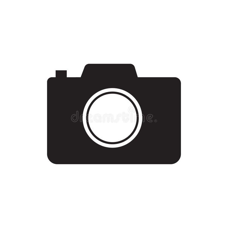 Kamery ikona, p?aski fotografii kamery wektor odizolowywaj?cy Nowo?ytny prosty zdj?cie fotografii znak E ilustracji