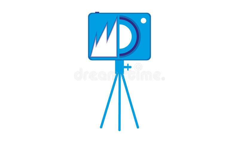 Kamery ikony fotografii logo, Statywowy kamera symbol ilustracji