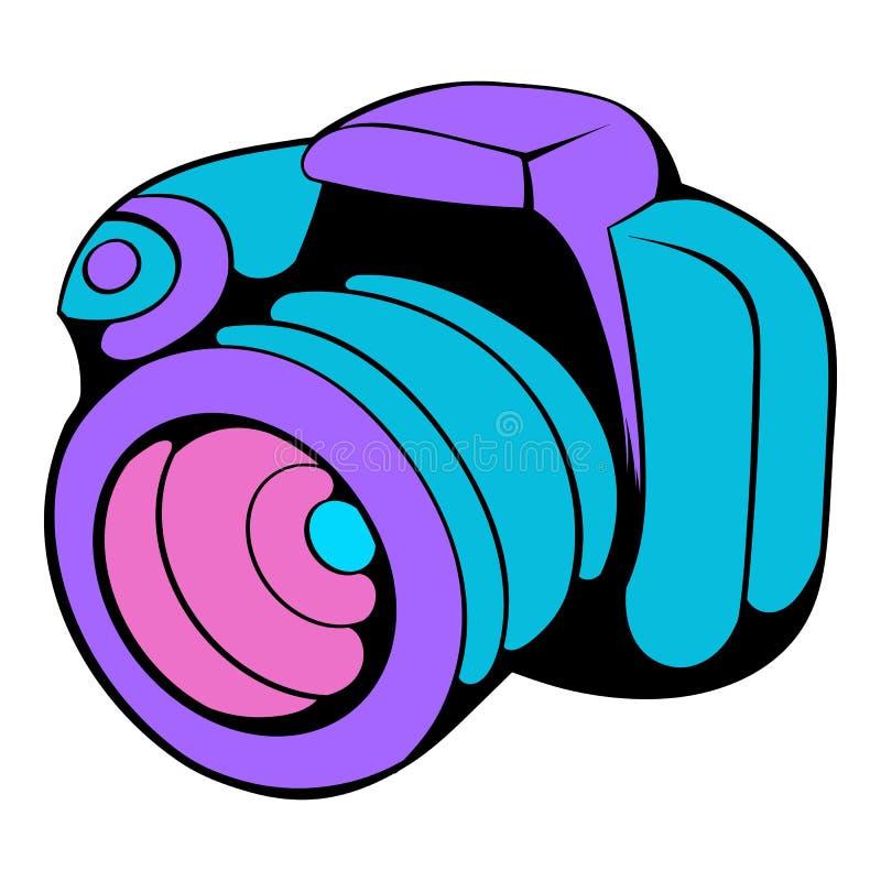Kamery ikony kreskówka royalty ilustracja