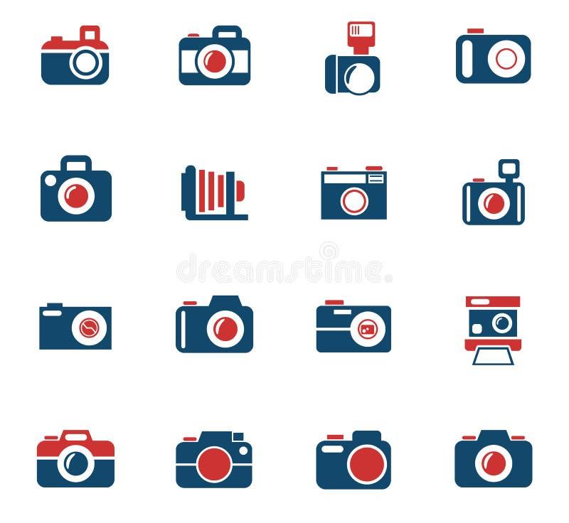Kamery ikony set ilustracja wektor