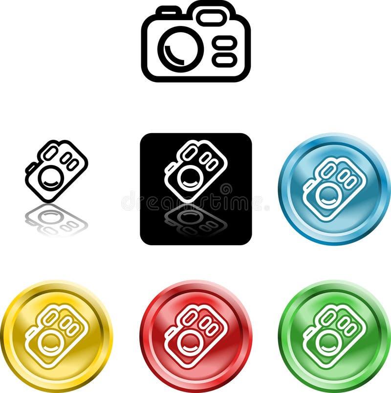 kamery ikony symbol royalty ilustracja