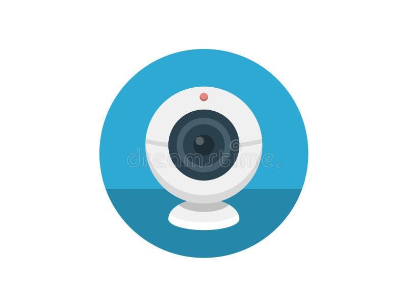 Kamery internetowej ikony znaka wektorowy symbol ilustracja wektor