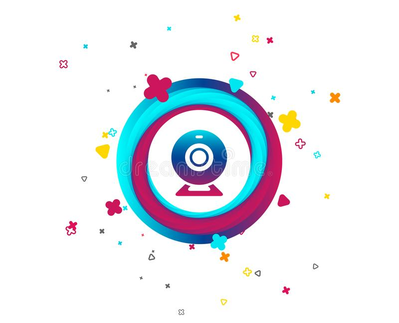 Kamery internetowej szyldowa ikona Sieci gadki wideo symbol ilustracji