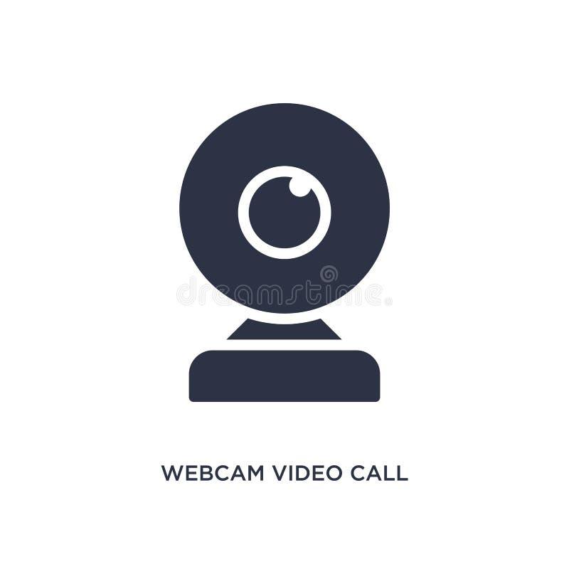 kamery internetowej wideo wezwania ikona na białym tle Prosta element ilustracja od muzycznego i medialnego pojęcia royalty ilustracja