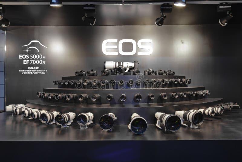 kamery kanonu eos wodowanie nowy produkt obraz stock