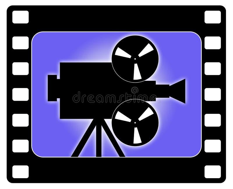 kamery kina działanie royalty ilustracja