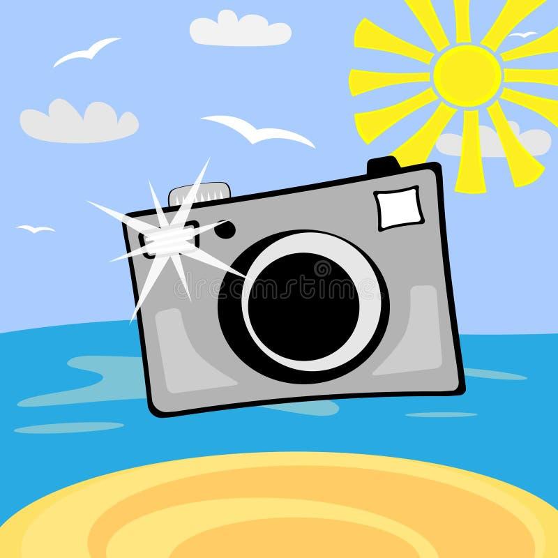 kamery kreskówki fotografia royalty ilustracja