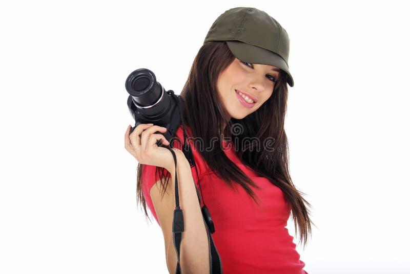 kamery mienia fotografii kobieta obraz royalty free