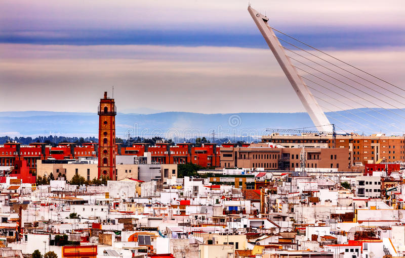 Kamery Obscura Alamillo most Seville Hiszpania obraz royalty free