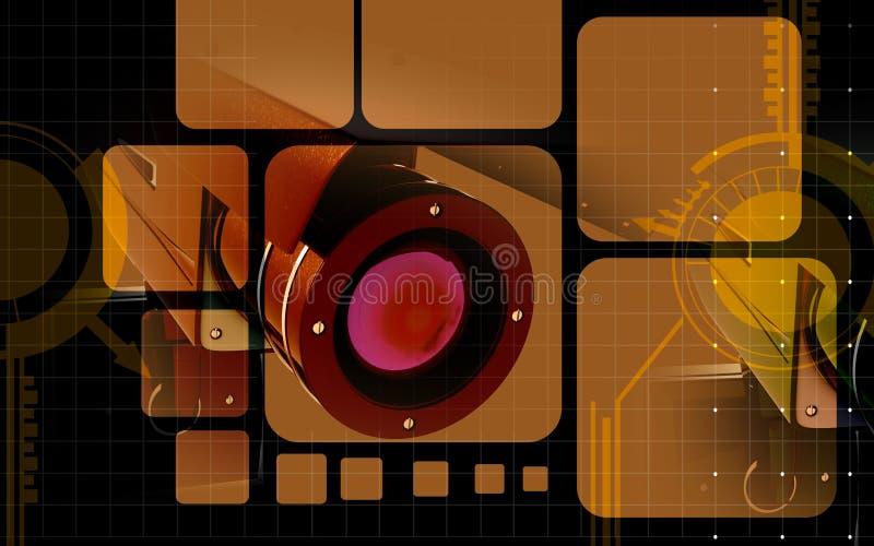 kamery ochrona ilustracja wektor