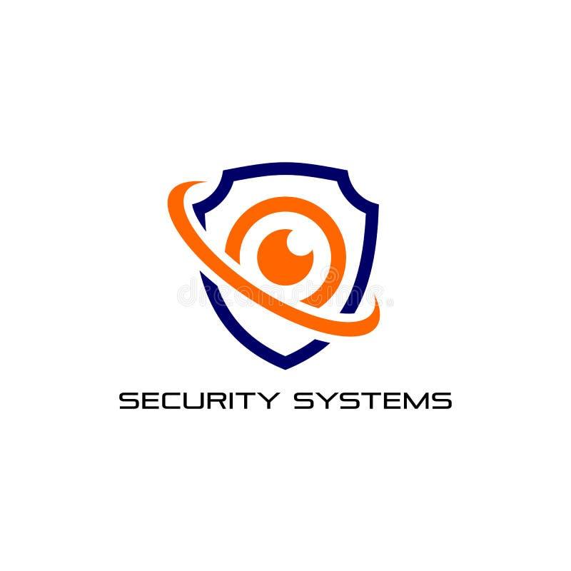 Kamery ochrony logo projekta szablon cctv ikony symbolu wektorowy projekt ilustracja wektor