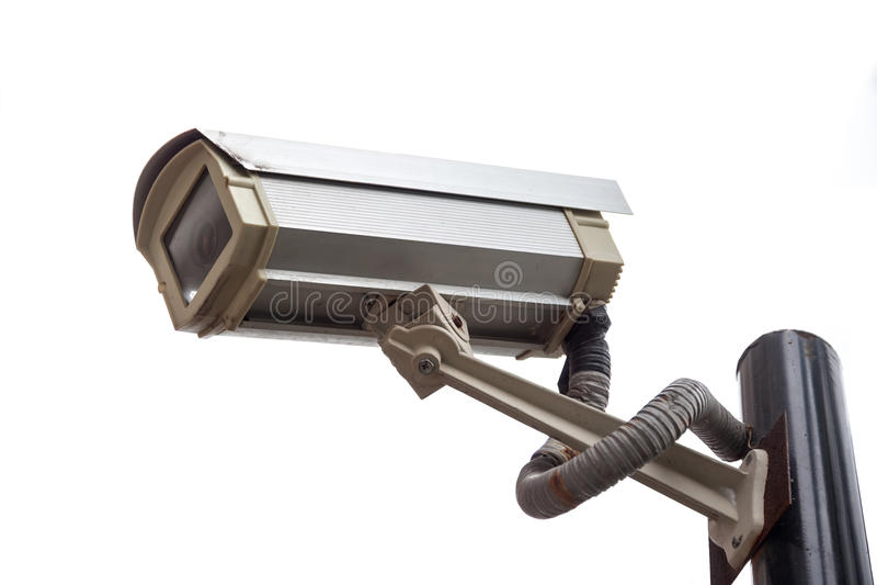 kamery odosobniony inwigilaci biel obraz royalty free