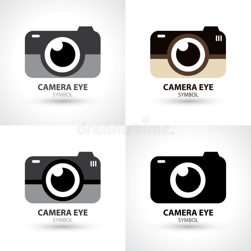 Kamery oka symbolu ikona ilustracja wektor