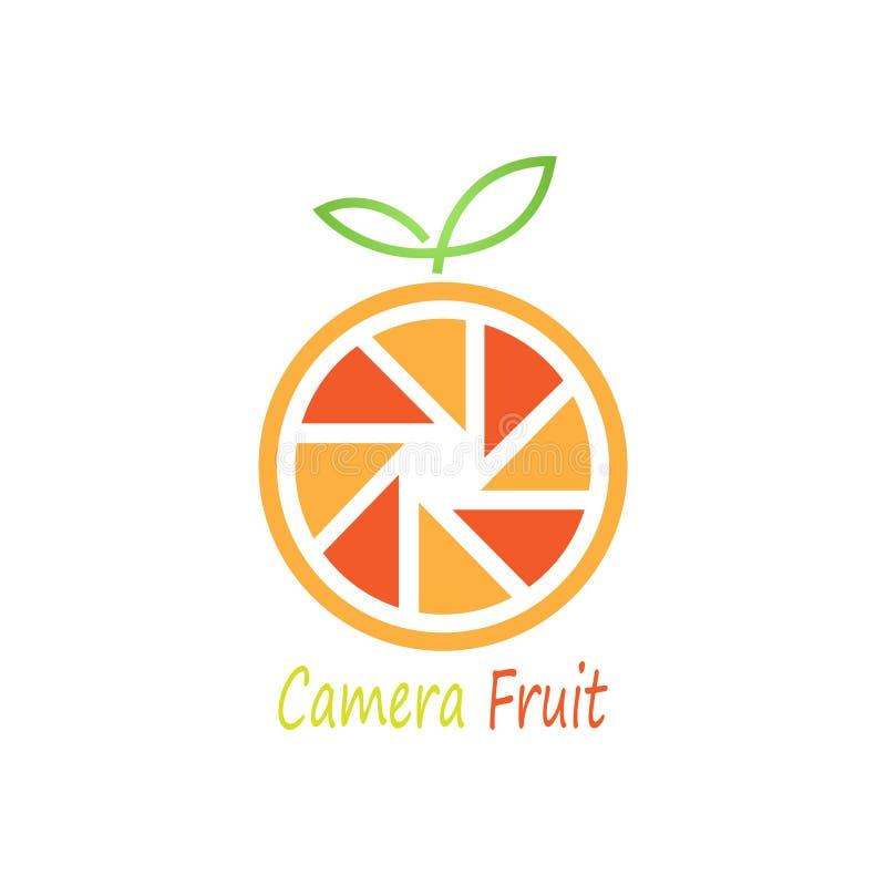Kamery owoc logo royalty ilustracja