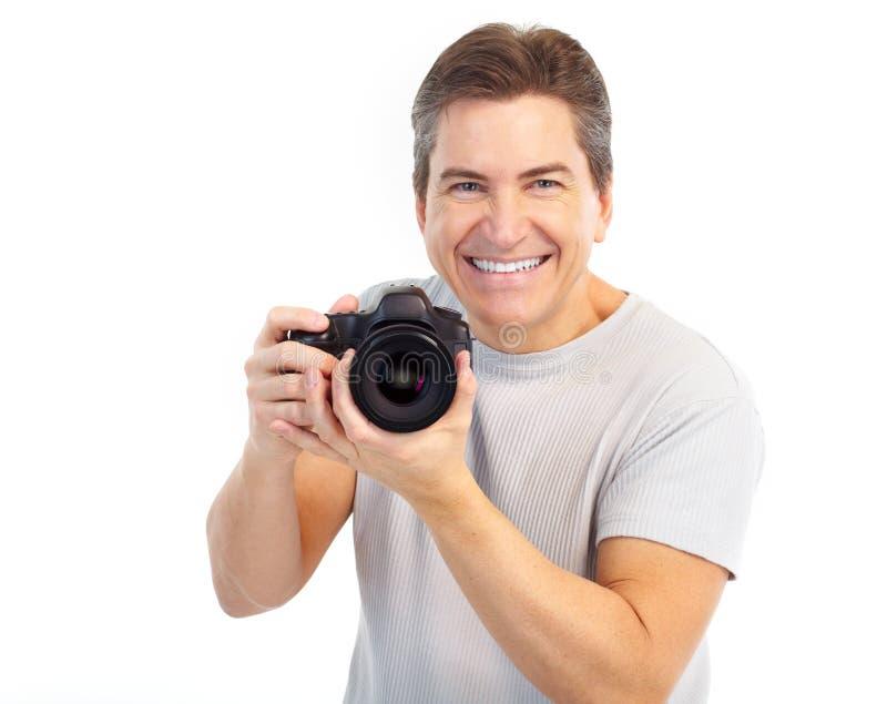 kamery przystojna mężczyzna fotografia obraz stock