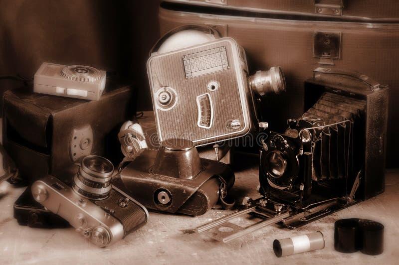 kamery retro stary obraz stock